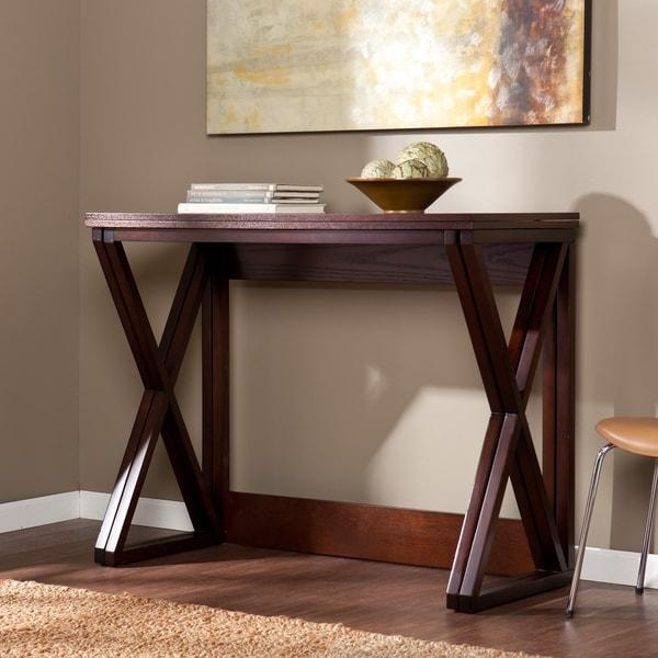 Harper Blvd Garner Espresso Counter Height Universal Table – Free For Counter Height Sofa Tables (Image 9 of 20)