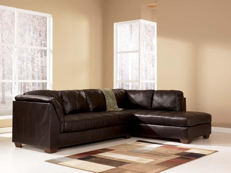 Harrington Chocolate Sectional Sofa Signature Designashley Inside Ashley Furniture Brown Corduroy Sectional Sofas (Image 13 of 20)