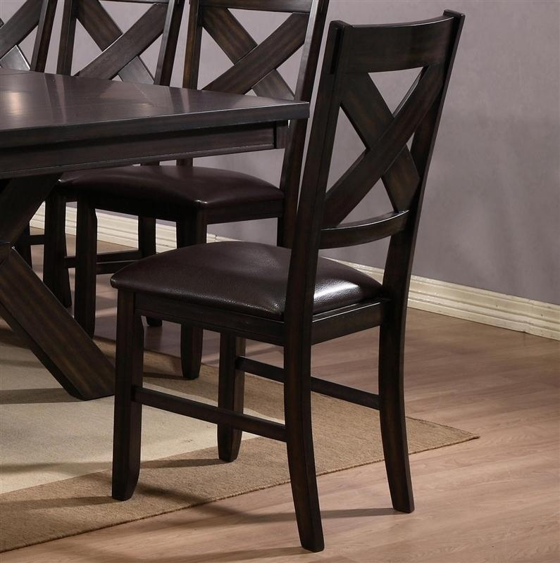 Havana 6 Piece Dining Set In Espresso Finishcrown Mark – 2335 Pertaining To Havana Dining Tables (Image 9 of 20)