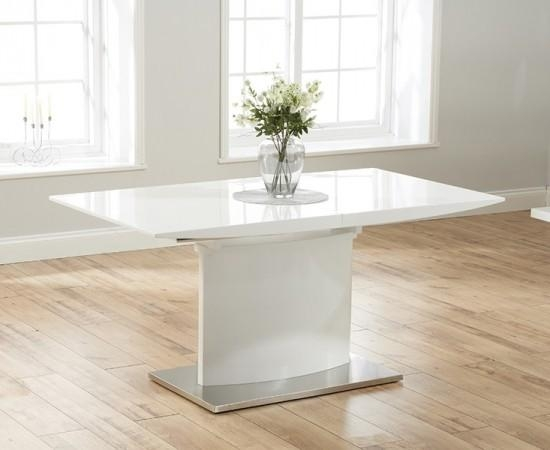 Hayden 160 Cm White High Gloss Extending Dining Table | Morale Throughout Extending White Gloss Dining Tables (View 11 of 20)