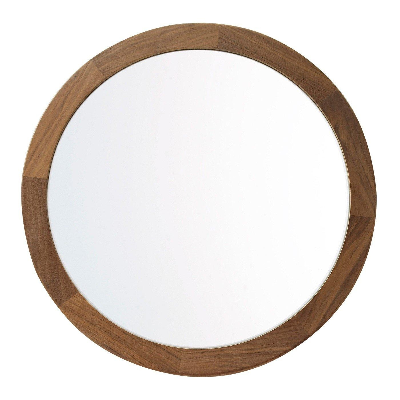 Heal's Walnut Frame Round Mirror Regarding Round Mirrors (View 6 of 20)