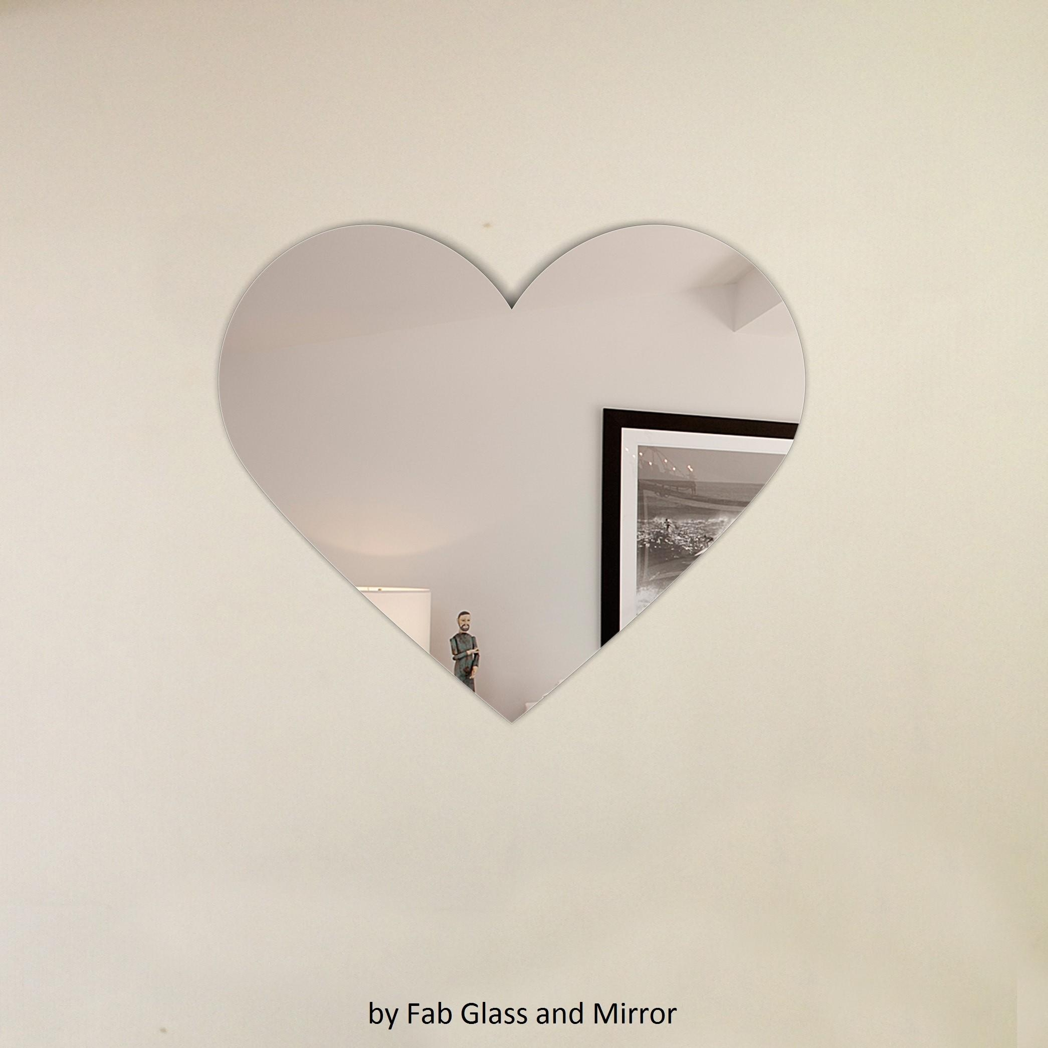 Heart Shape Frameless Wall Mirror With Hooks In Heart Shaped Mirror For Wall (Image 3 of 20)