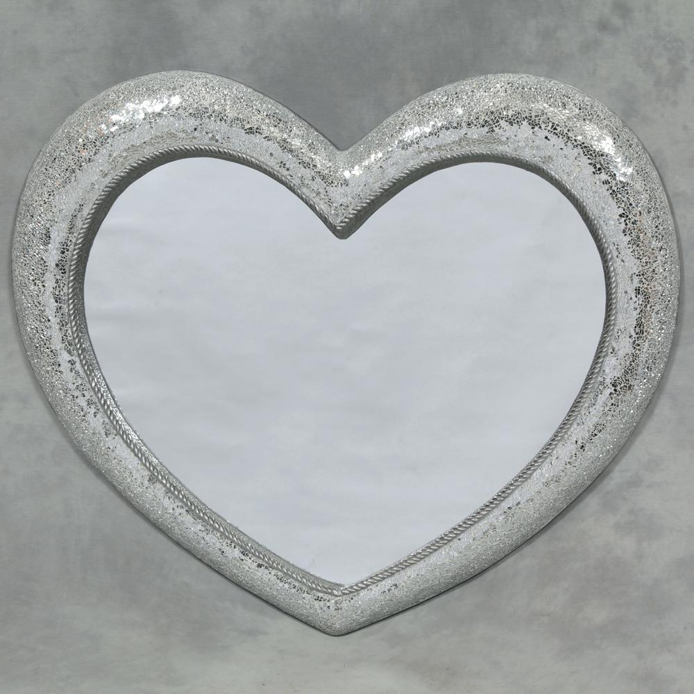Heart Shape Venetian Wall Mirror 2Ft8 80Cm Lightbox Moreviewlarge With Heart Shaped Mirrors For Walls (Image 7 of 20)