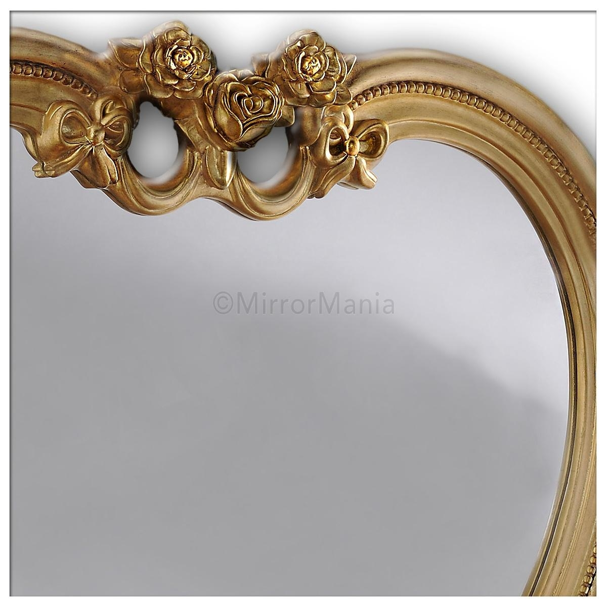Heart Shaped Wall Mirror Gold Regarding Heart Shaped Mirrors For Walls (Image 12 of 20)