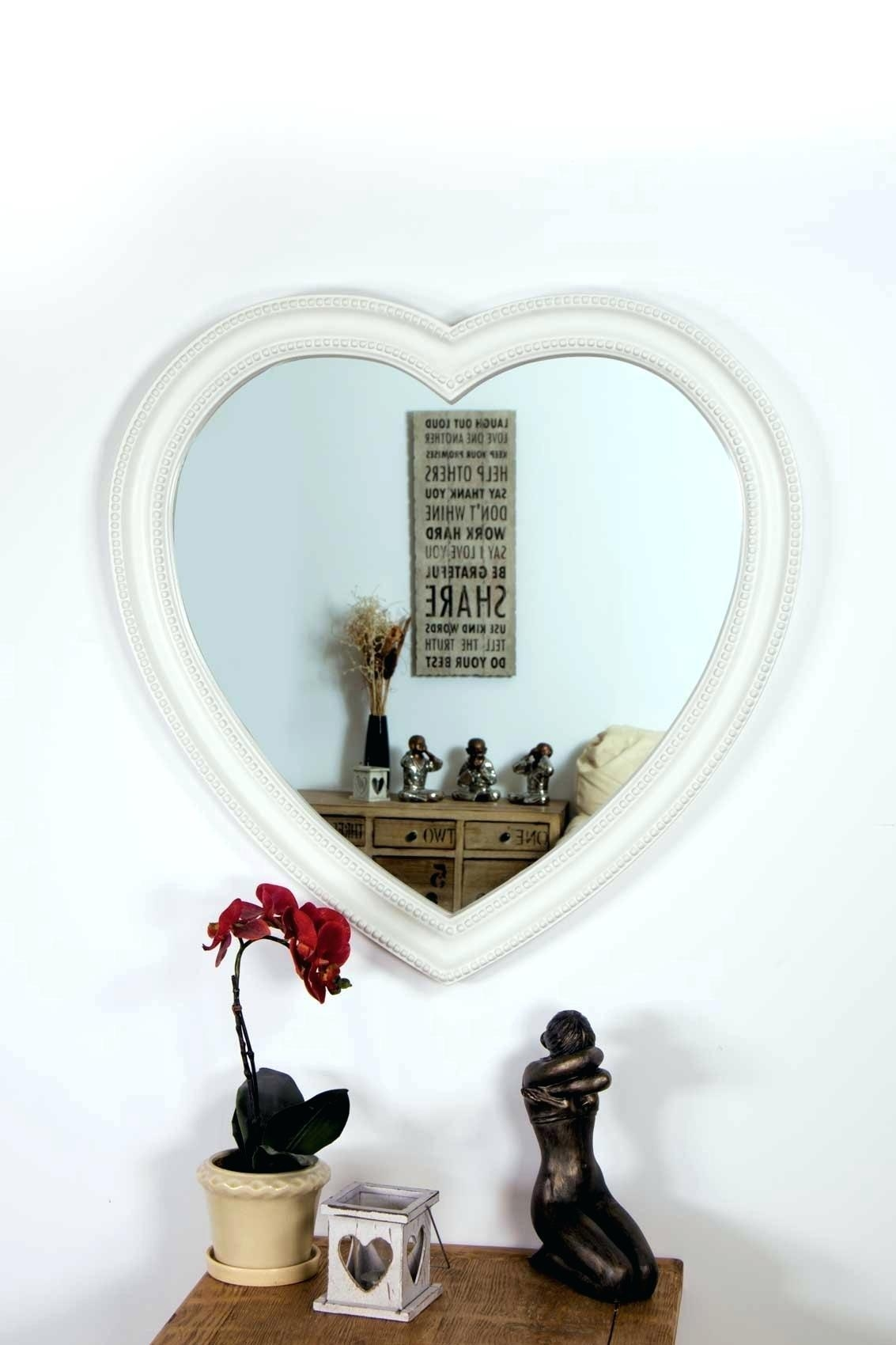 Heart Shaped Wall Mirror – Shopwiz With Regard To Heart Shaped Mirrors For Walls (View 11 of 20)