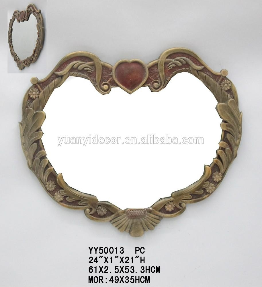 Heart Shaped Wall Mirrors, Heart Shaped Wall Mirrors Suppliers And For Heart Shaped Mirror For Wall (Image 6 of 20)