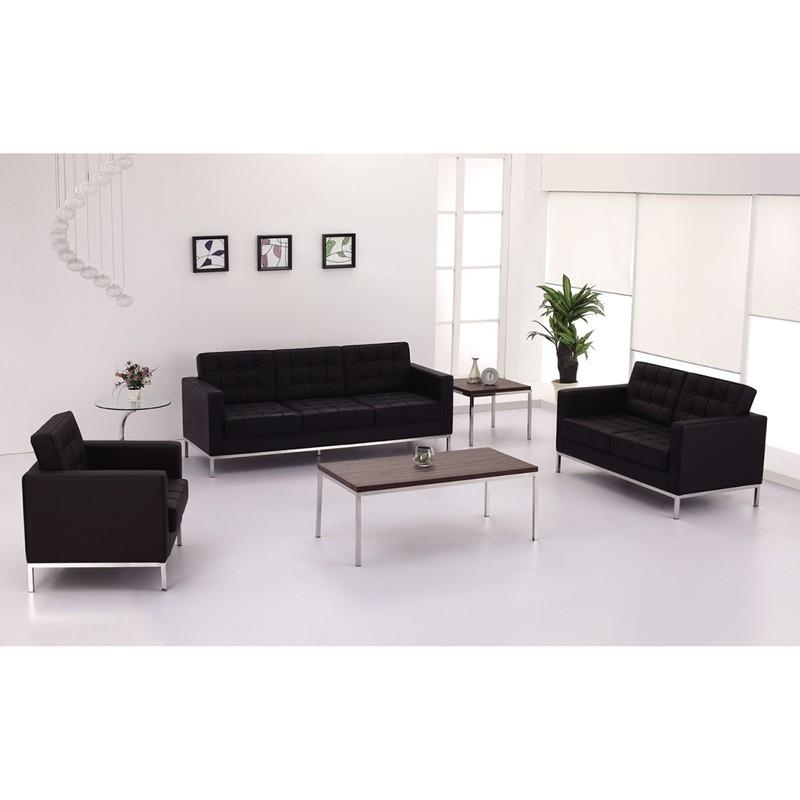 Hercules Lacey Series Contemporary Black Leather Sofa With Pertaining To Contemporary Black Leather Sofas (View 14 of 20)