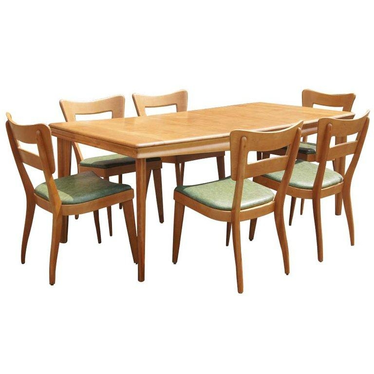 Heywood Wakefield Extension Dining Table And Six Chairs At 1Stdibs With Dining Tables And Six Chairs (Image 12 of 20)