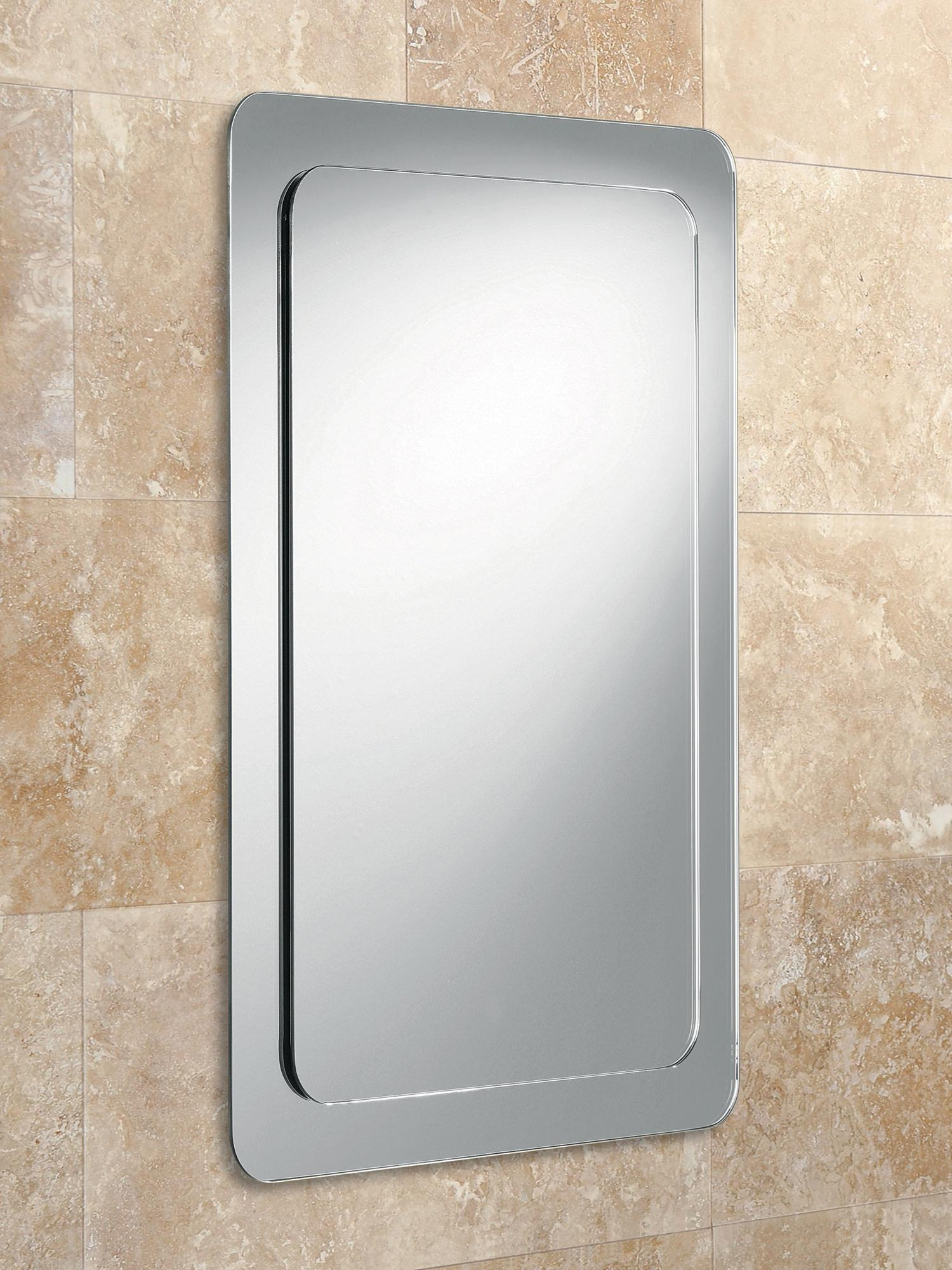 Hib Almo Bevelled Mirror On Mirror With Rounded Corners | 63210795 Inside Bevelled Mirror (View 13 of 20)