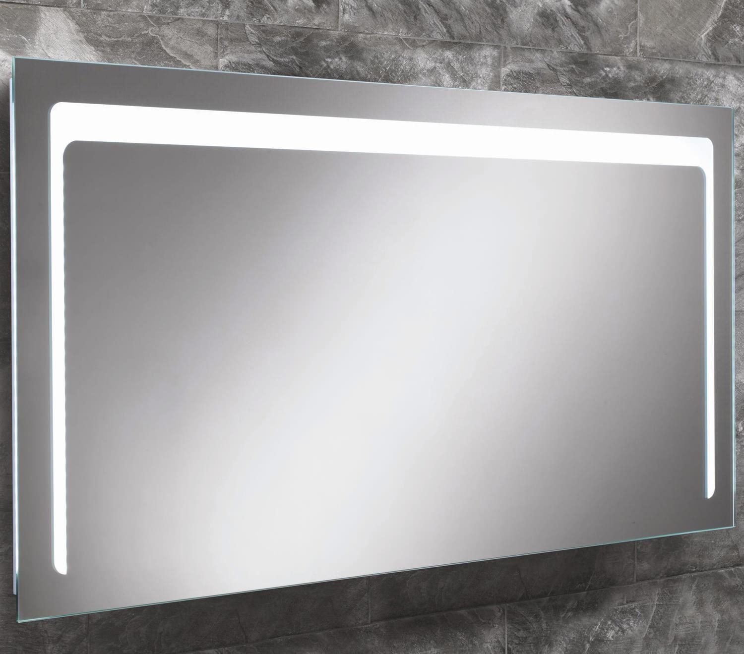 Hib Christa Steam Free Led Back Lit Mirror 1200X600Mm | 77413000 In Large Illuminated Mirror (Image 13 of 20)