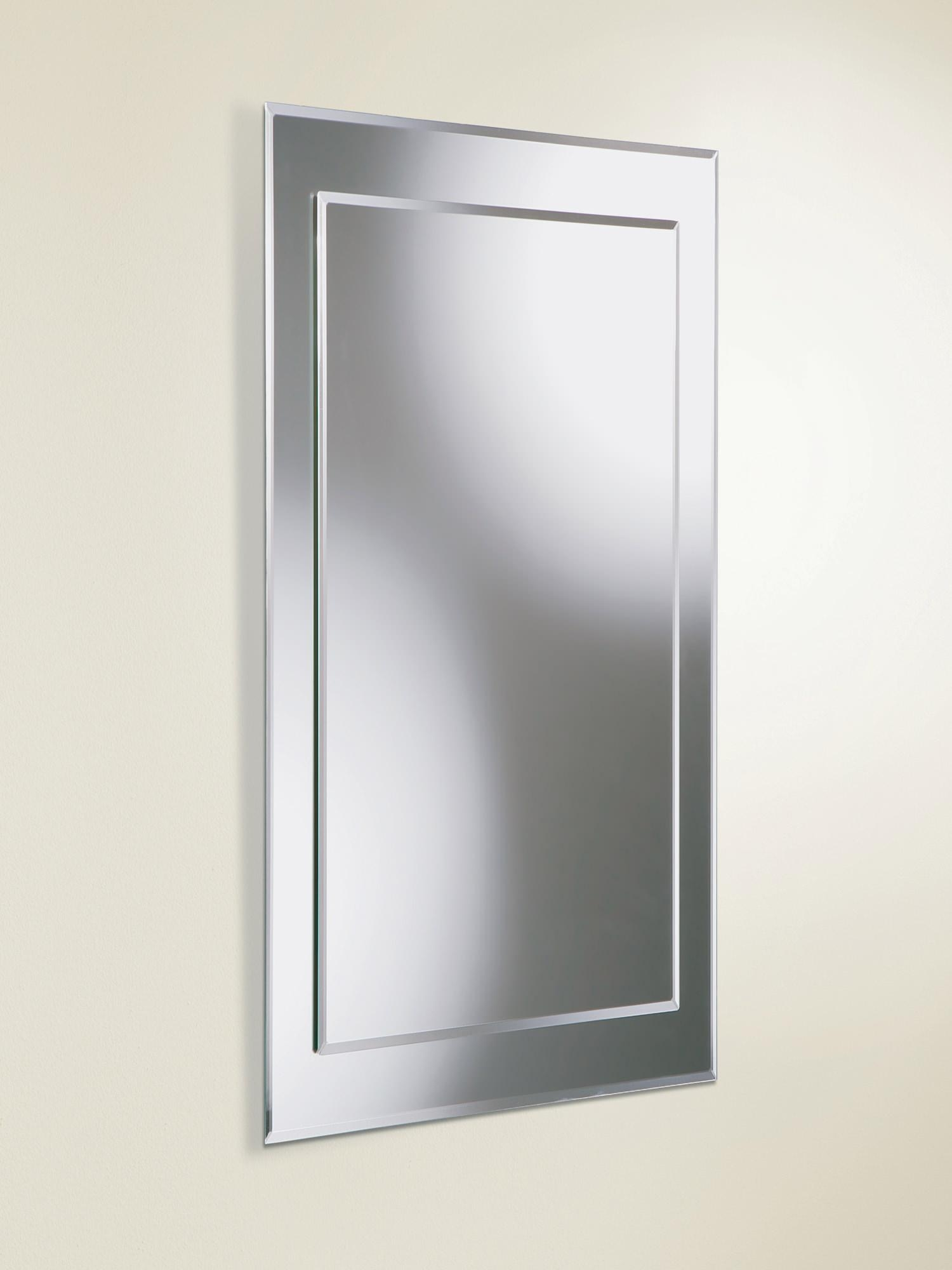 Hib Lucy Rectangular Bevelled Mirror On Mirror 400 X 800Mm | 63604295 Throughout Bevelled Mirror (View 12 of 20)