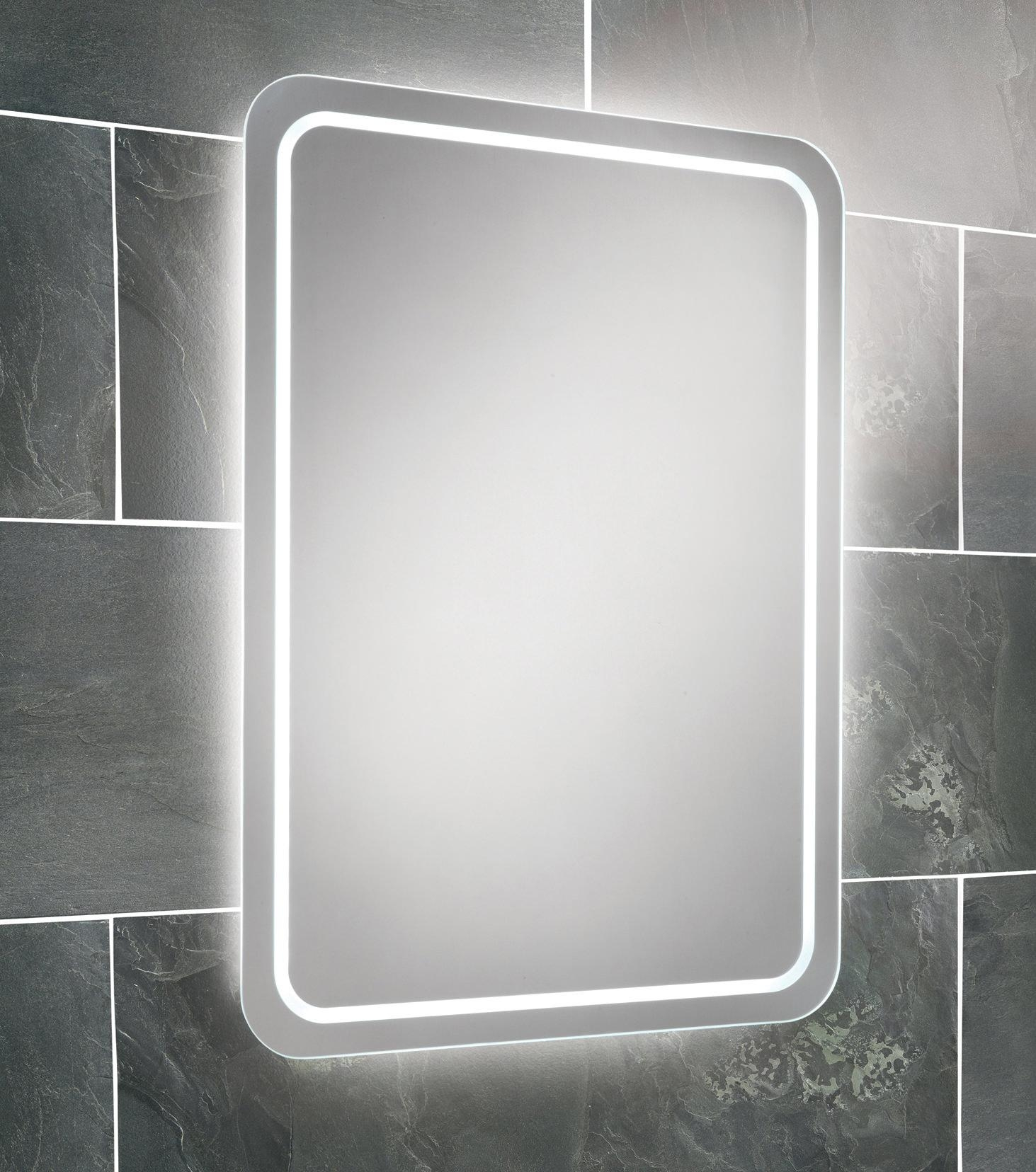 Hib Natalia Led Back Lit Mirror 500 X 700Mm | 64154395 Within Large Illuminated Mirror (View 18 of 20)
