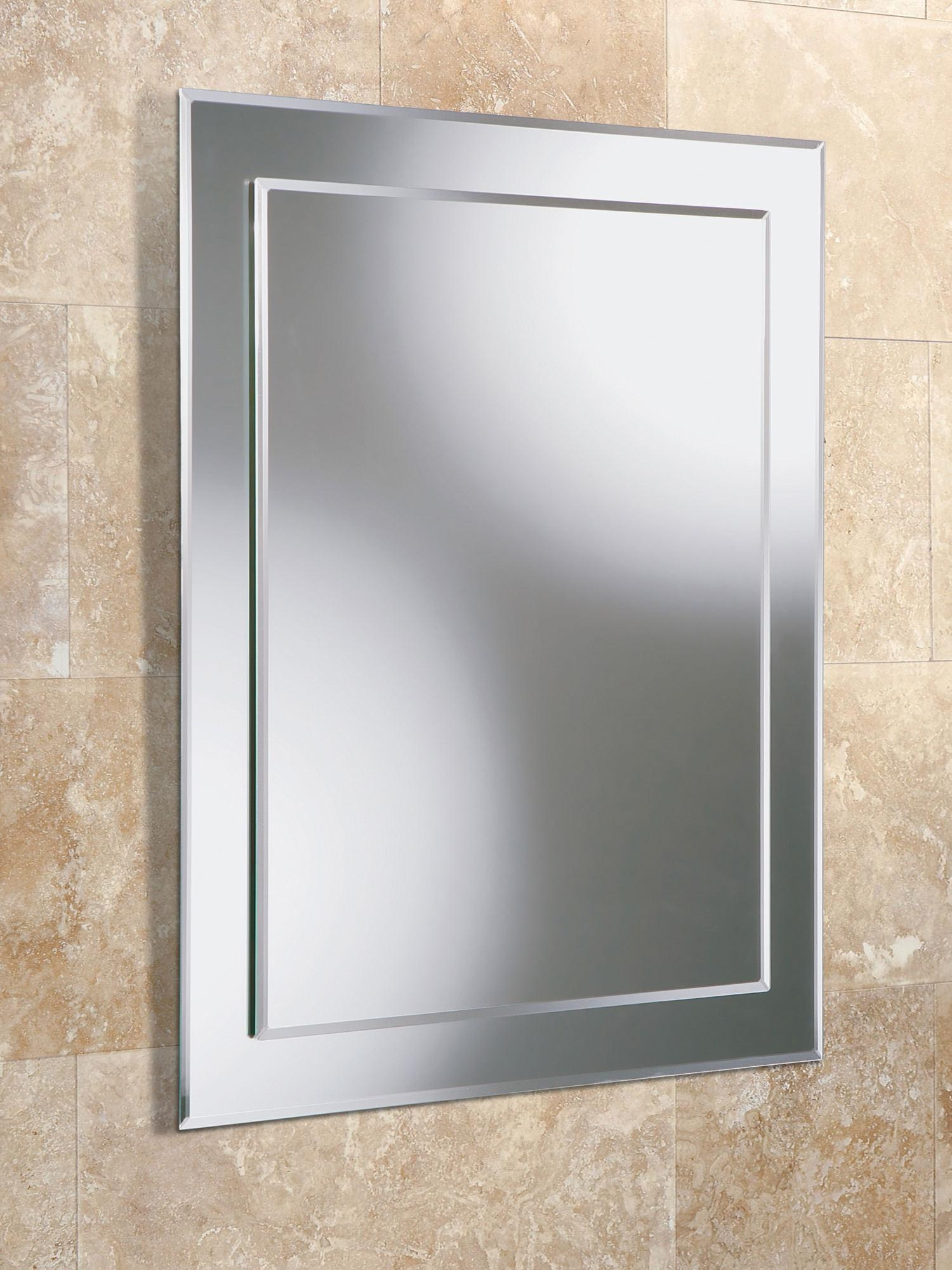 Hib Olivia Rectangular Bevelled Mirror On Mirror 400 X 600Mm For Small Bevelled Mirror (View 14 of 20)
