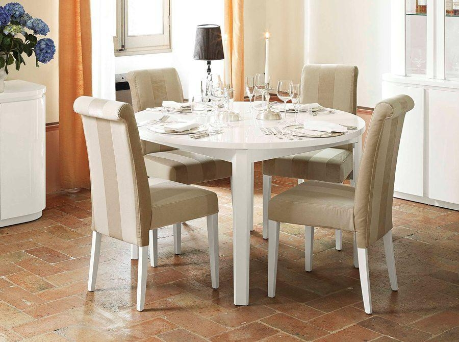 High End Dining Table Rotary Extending Round To Round Mahogany With Regard To Extendable Dining Table Sets (Image 18 of 20)
