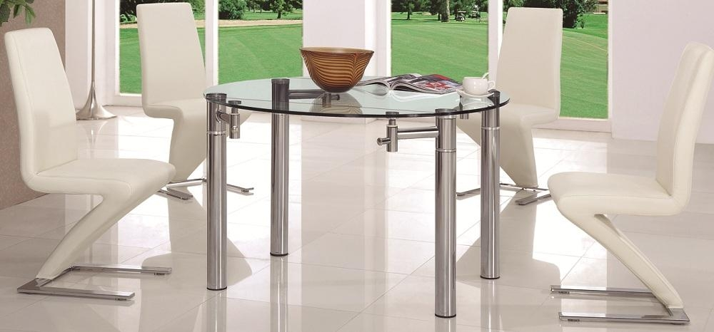 High End Dining Table Rotary Extending Round To Round Mahogany Within Glass Round Extending Dining Tables (Image 11 of 20)