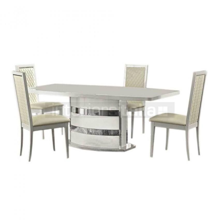 High Gloss Dining Set | Roma | Clearance Sale Inside Roma Dining Tables And Chairs Sets (Image 7 of 20)