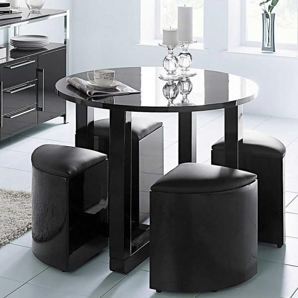 High Gloss Dining Set With Regard To Stowaway Dining Tables And Chairs (View 11 of 20)