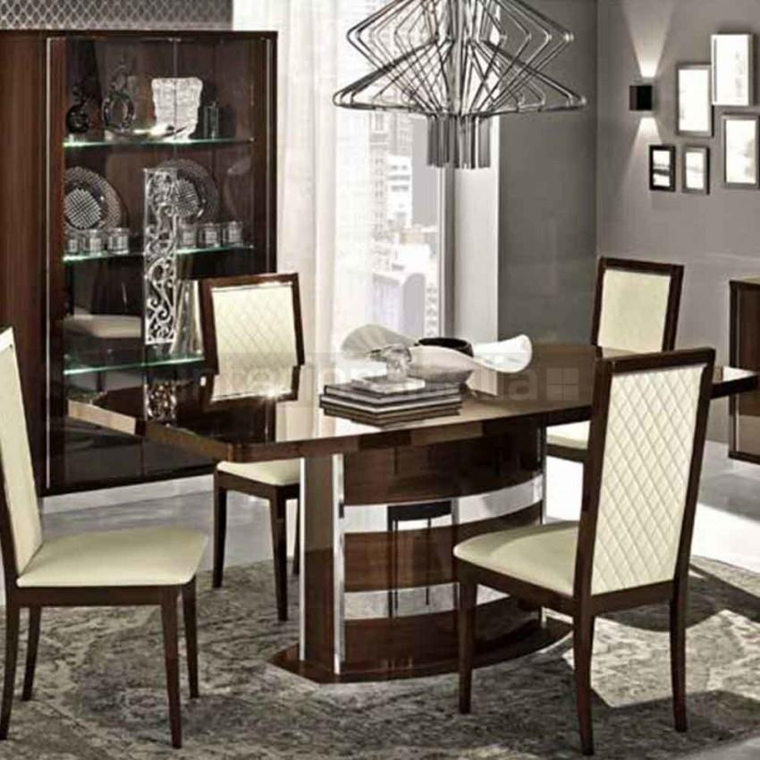 High Gloss Dining Table | Roma | Clearance Sale With Roma Dining Tables (View 11 of 20)