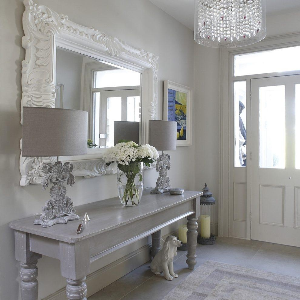 Hobby Lobby Mirrors Hallway Landing Shabby Chic Style With For Large Shabby Chic Mirrors (Image 7 of 20)