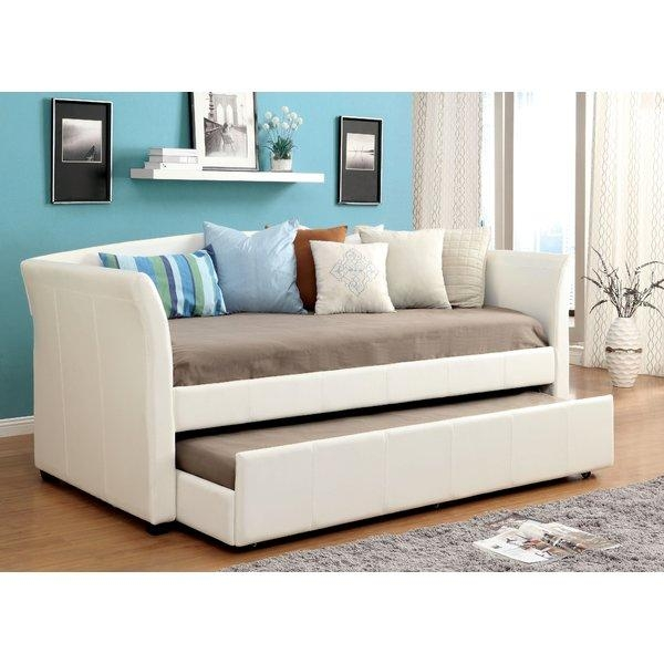 Hokku Designs Roma Daybed With Trundle & Reviews | Wayfair Inside Sofas Daybed With Trundle (Image 14 of 20)