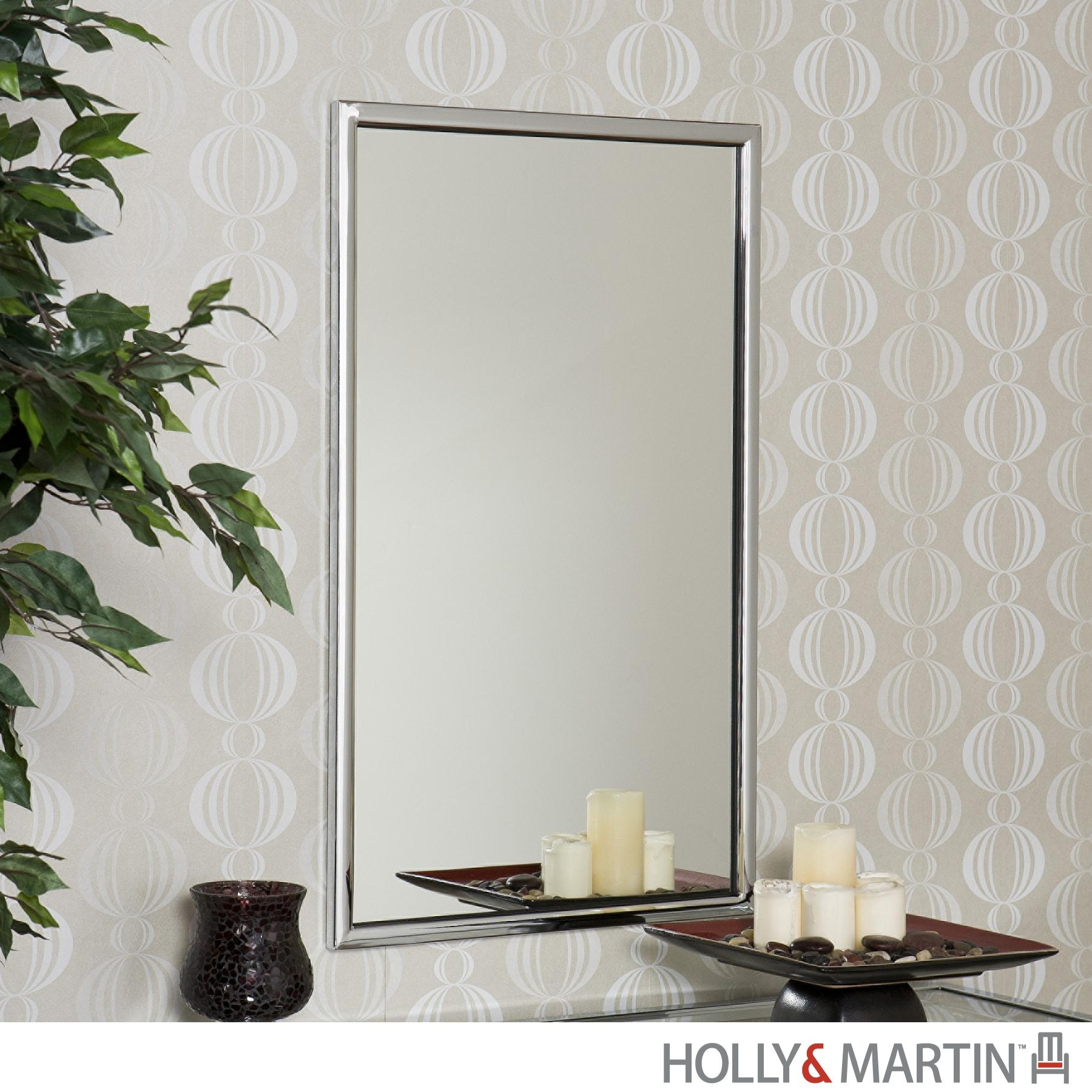 Holly & Martin Roxburgh Chrome Wall Mirror 93 208 019 4 07 In Chrome Wall Mirrors (Image 6 of 20)