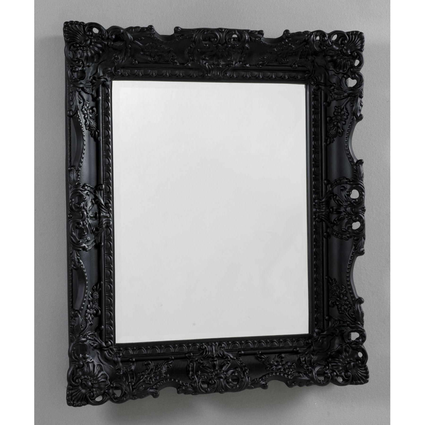 Home Decor: Antique French Black Mirror Black Mirror – Home Decor Intended For Black Antique Mirror (Image 14 of 20)