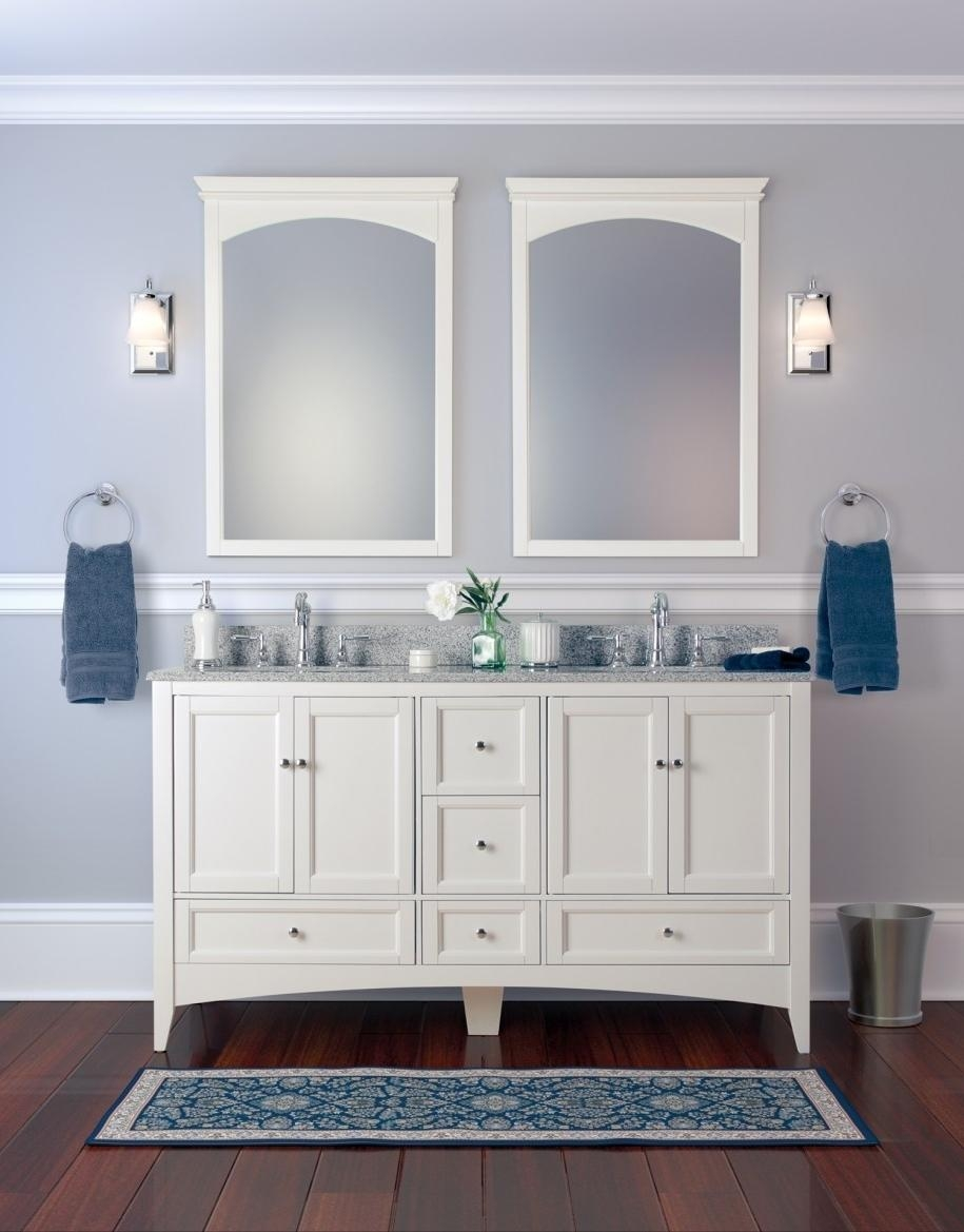 Home Decor : Framed Bathroom Vanity Mirrors Bathroom Faucets Intended For Vintage Style Mirrors (Image 13 of 20)