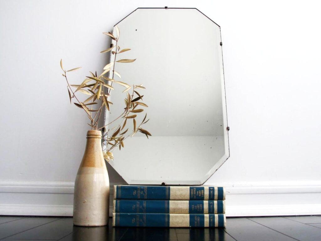 Home Decoration: Astounding Frameless Antique Mirrors With With Small Antique Mirrors (Image 8 of 20)