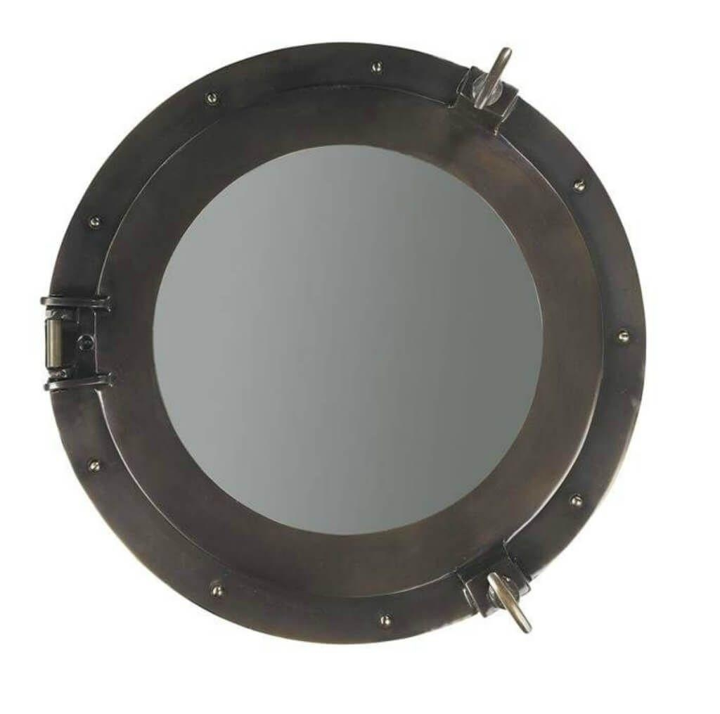 Home Decoration: Cool Metal Porthole Mirror Design – Decorative With Regard To Porthole Mirrors For Sale (Image 4 of 20)