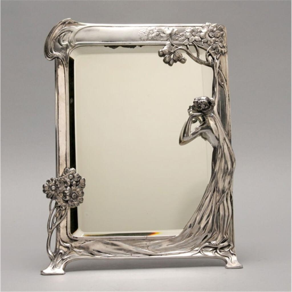 Home Decoration: Decorative Art Deco Style Mirror With Curly With Regard To Art Deco Wall Mirror (Image 14 of 20)