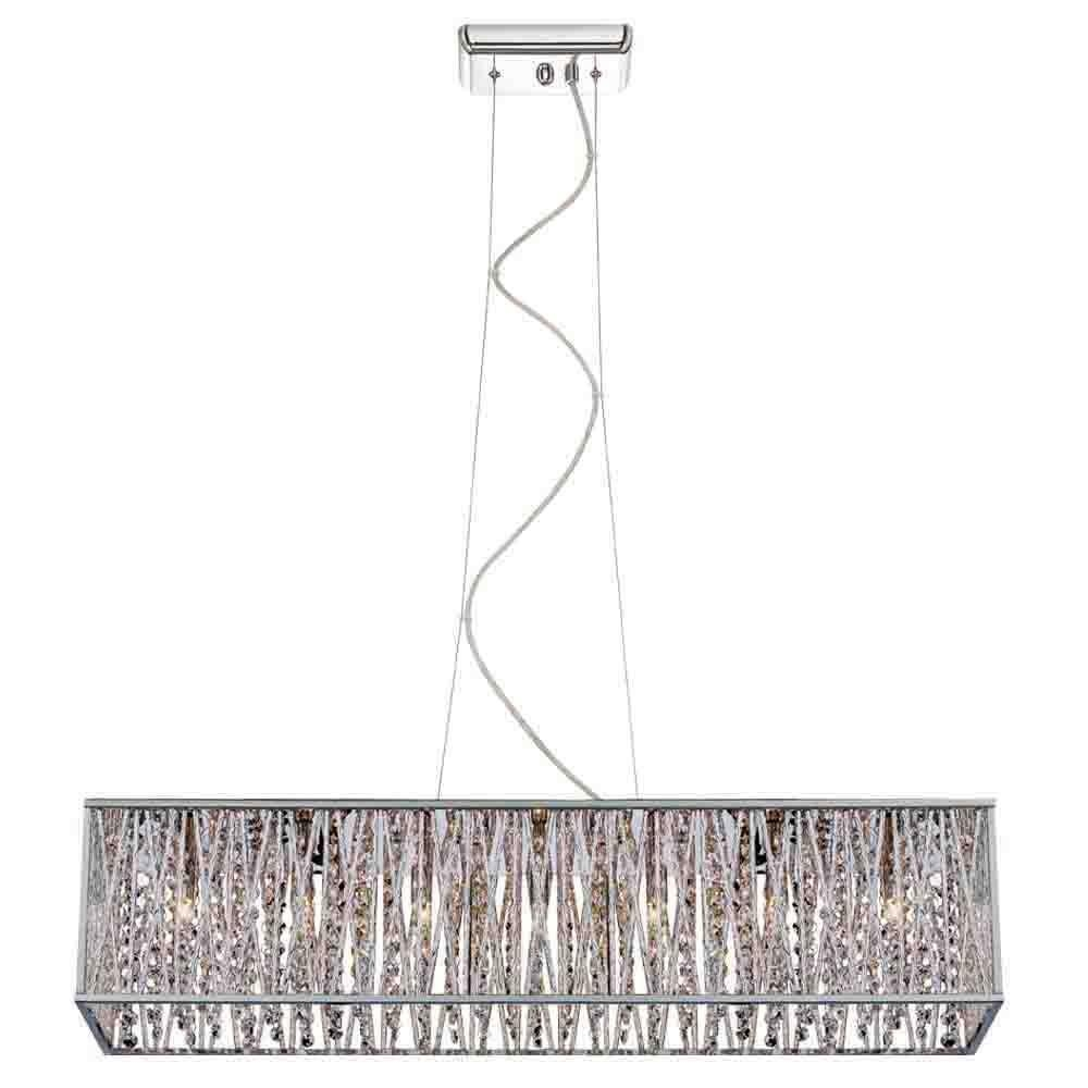 Home Decorators Collection 7 Light Chrome With Woven Laser Cut For 7 Light Chandeliers (Image 8 of 25)