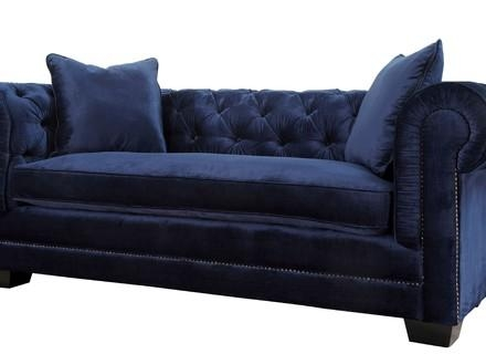 Home > Gabriel Sofa, Navy Blue, Navy Blue Sofa – Plaisirdeden Pertaining To Allen White Sofas (Image 16 of 20)