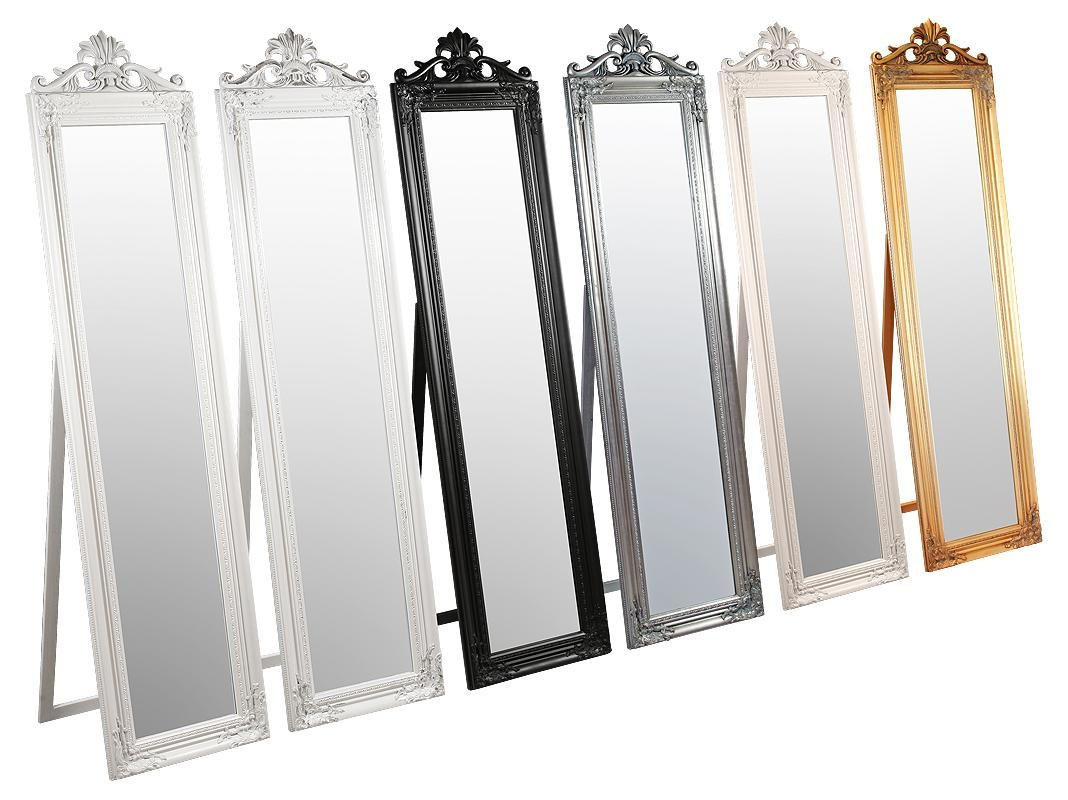 Homeware: Floor Length Mirrors | Stand Alone Mirrors | Floor Pertaining To Cream Free Standing Mirror (Image 14 of 20)