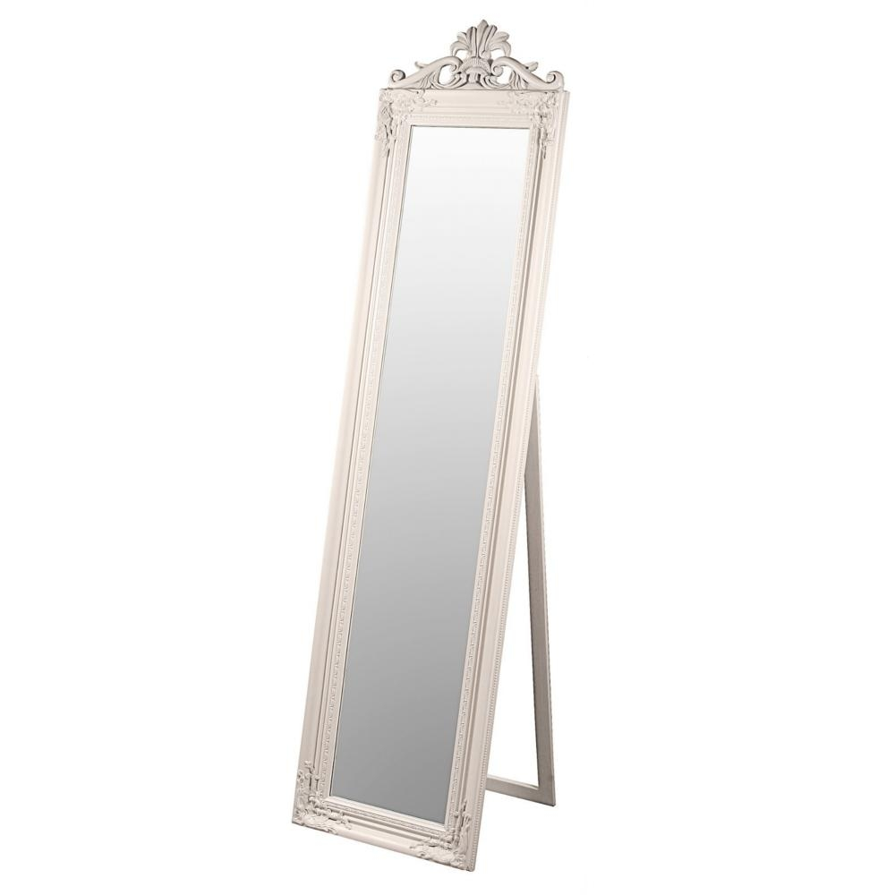 Featured Image of Cream Floor Standing Mirror