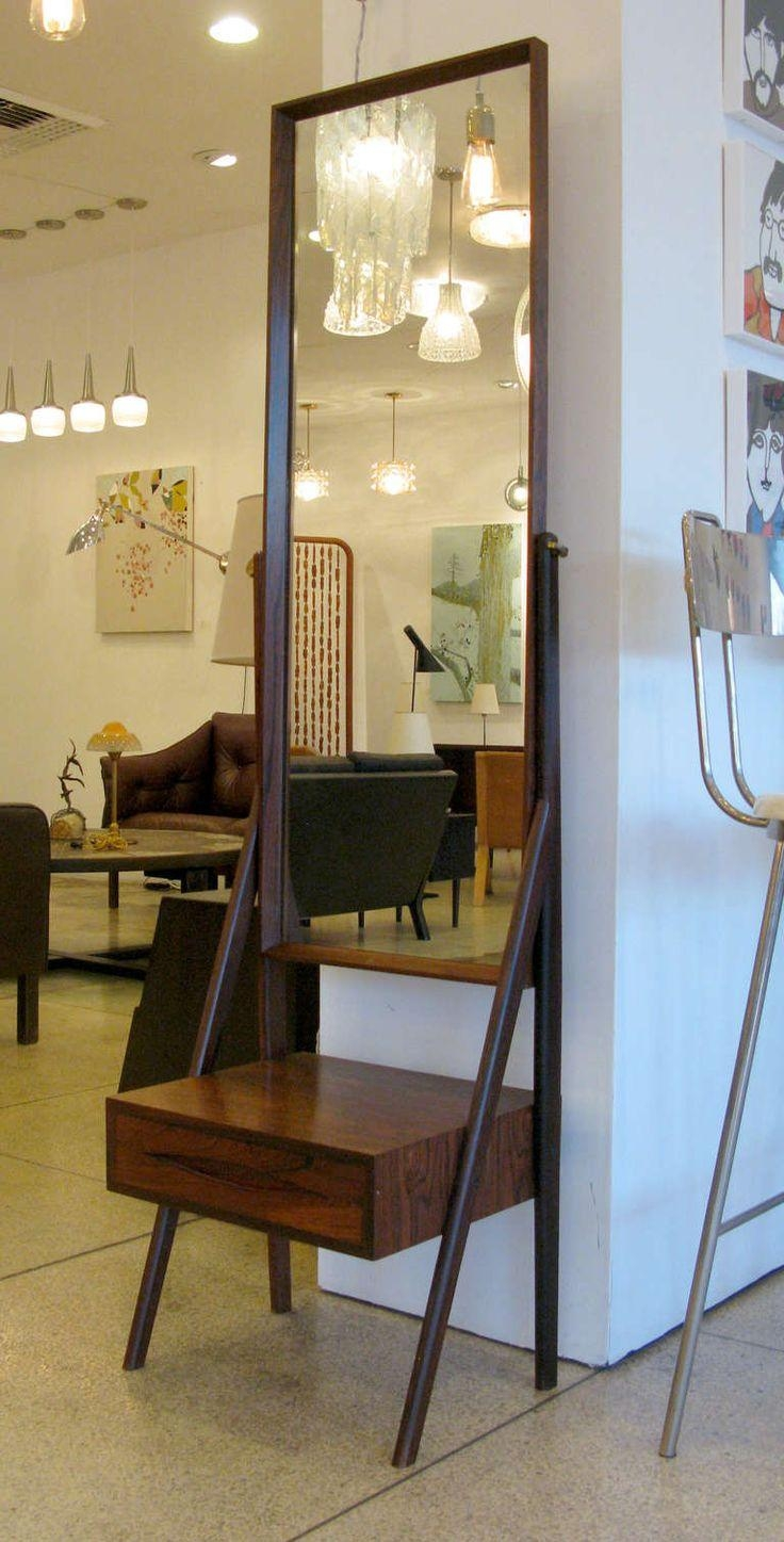 Homeware: Full Length Mirror On A Stand | Floor Length Wall With Regard To Free Standing Mirror With Drawer (Image 16 of 20)