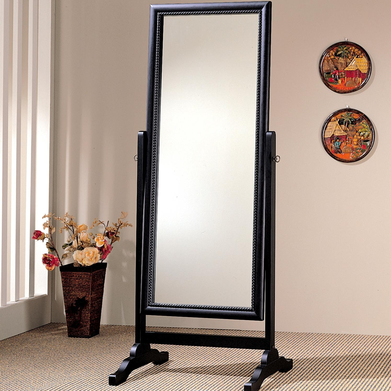 Homeware: Full Length Mirror On A Stand | Floor Length Wall With Silver Free Standing Mirror (Image 15 of 20)