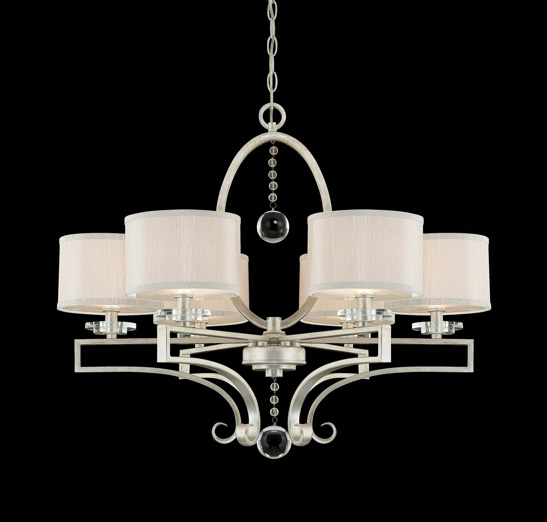 House 1 250 6 307 Rosendal 6 Light Chandelier In Silver Sparkle Intended For Savoy House Chandeliers (Image 2 of 25)