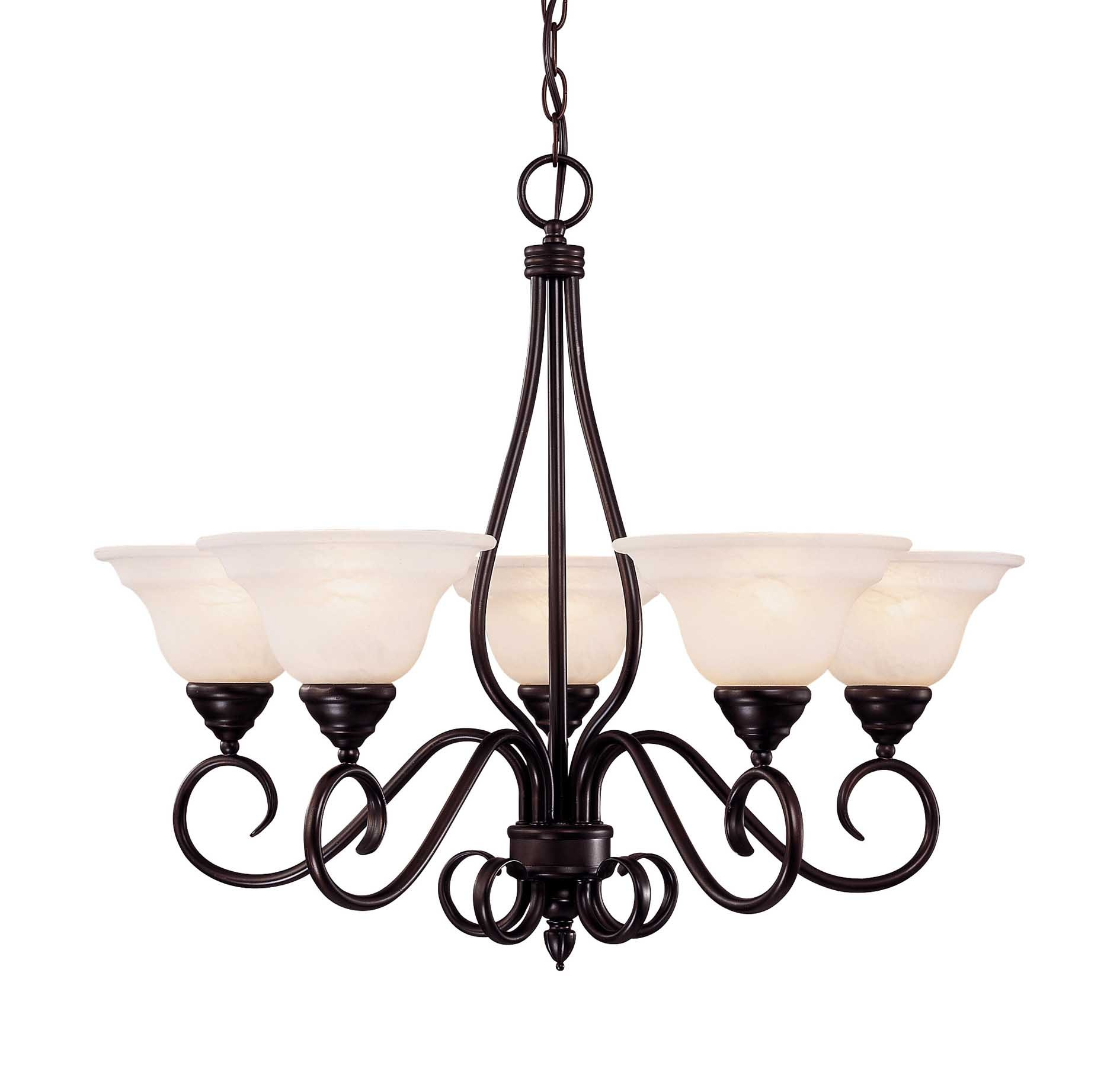 House Kp 94 5 13 Oxford 5 Light Chandelier In English Bronze Regarding Savoy House Chandeliers (Image 5 of 25)