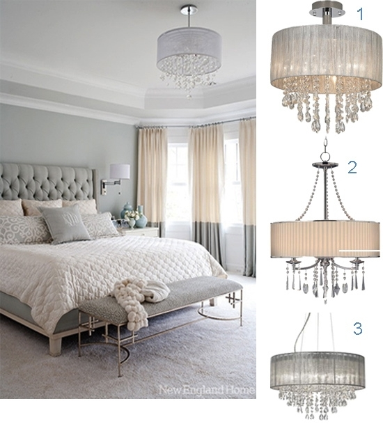 How To Make Your Bedroom Romantic With Crystal Chandeliers Home For Chandelier Night Stand Lamps (Image 19 of 25)