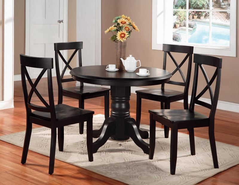 How To Purchase Black Round Dining Table Set – Home Decor Pertaining To Dark Round Dining Tables (Image 14 of 20)