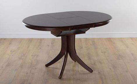 Hudson Round Extending Dining Room Table 90 120 (Dark) Only With Dark Round Dining Tables (Image 15 of 20)