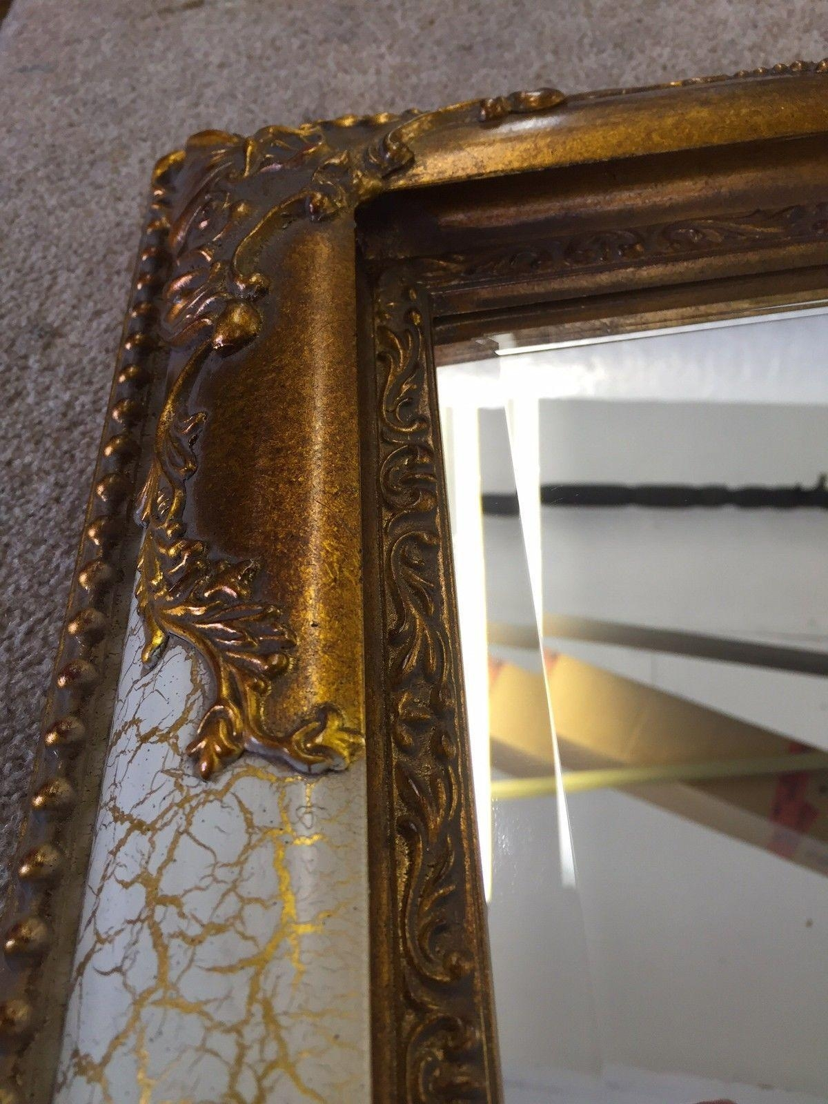 Huge Ornate Victorian Style Bevelled Mirrors – Choice Of Size Inside Victorian Style Mirrors (View 17 of 20)