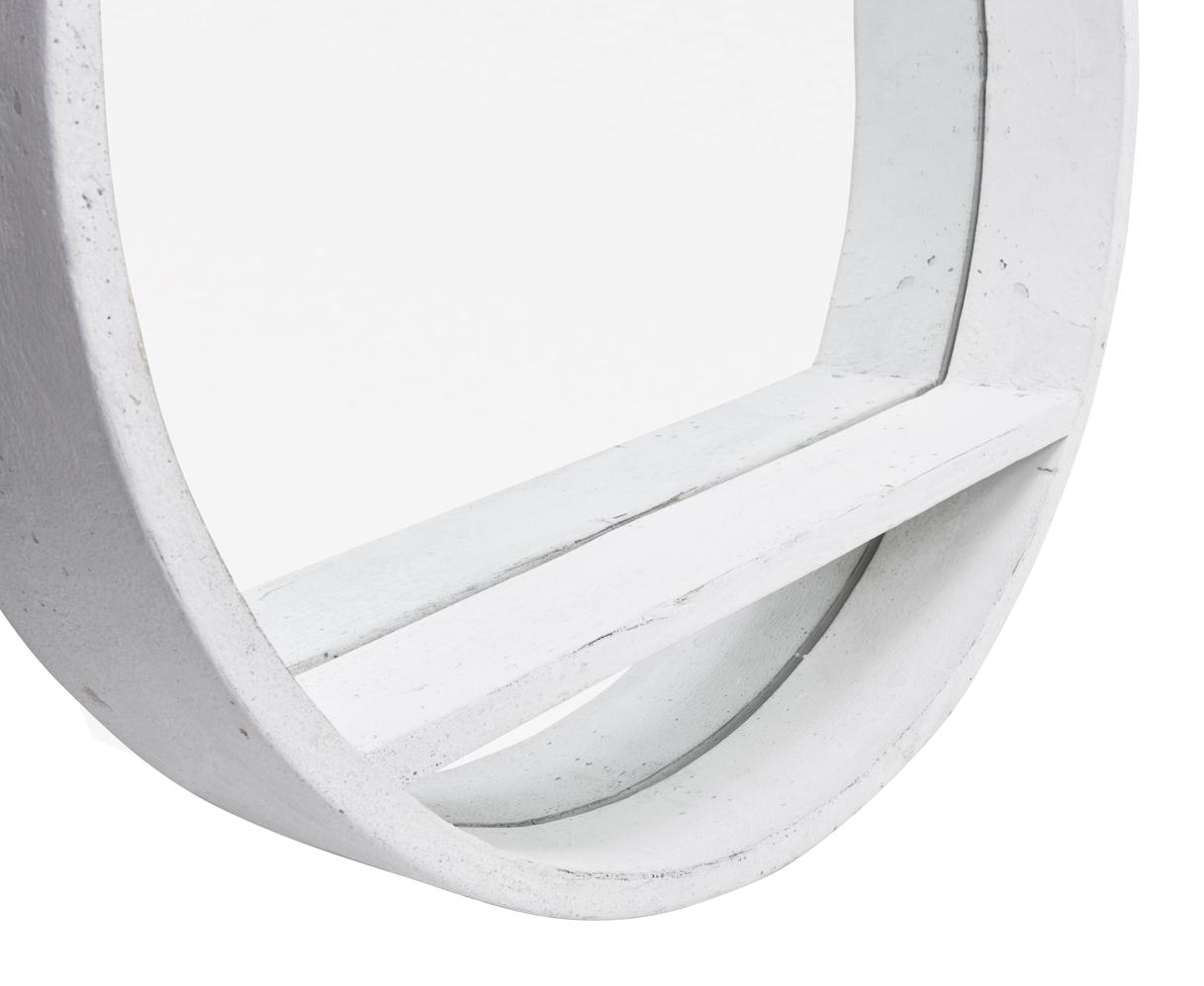 Hula Mirror In White | Round Wall Mirror | Loaf In Round White Mirror (Image 5 of 20)