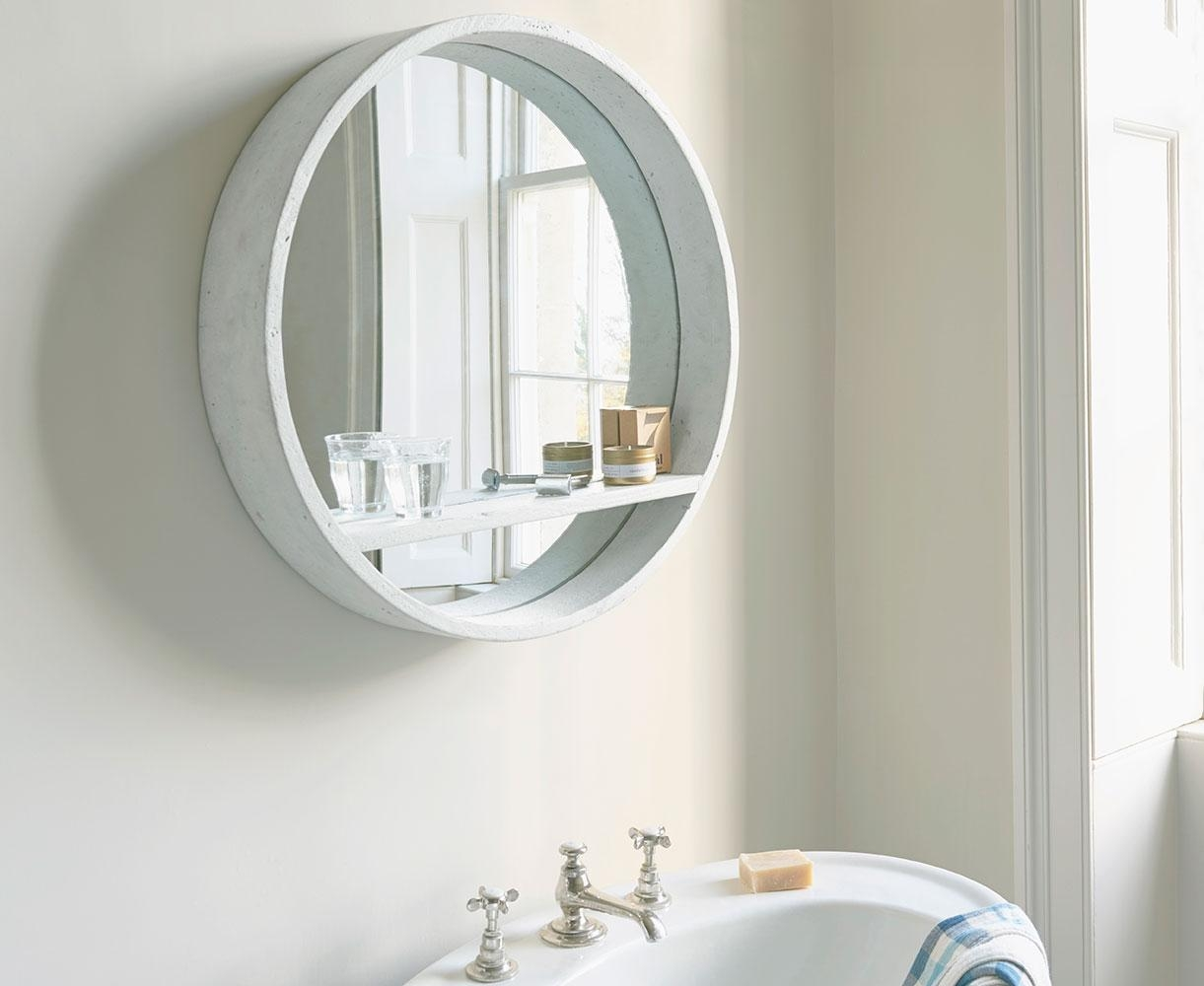 Hula Mirror In White | Round Wall Mirror | Loaf Intended For Round White Mirror (Image 6 of 20)