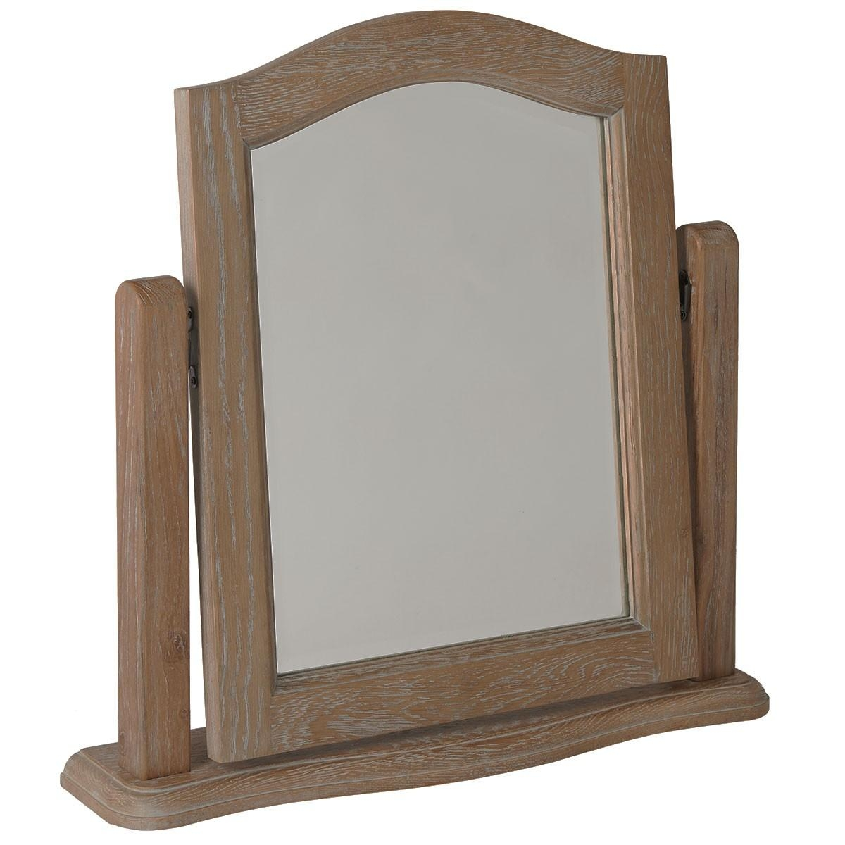 Hutch® – Lily French Limed Oak Dressing Table Mirror Pertaining To Dressing Table Mirror (Image 8 of 20)