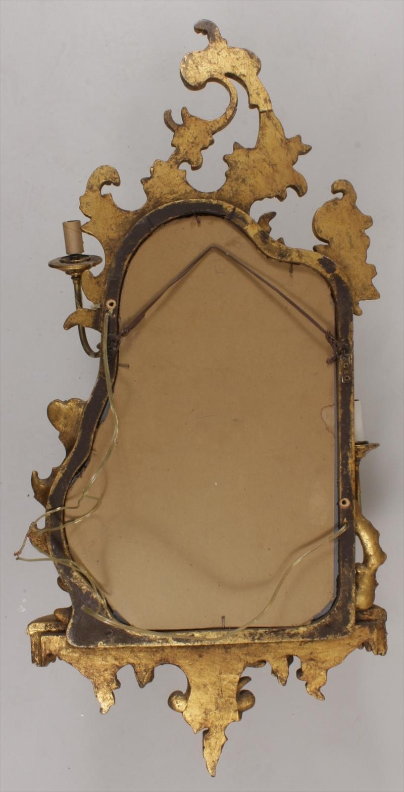 Igavel Auctions: Pair Of Chinese Chippendale Style Gilt Girandole With Chinese Mirrors (View 16 of 20)