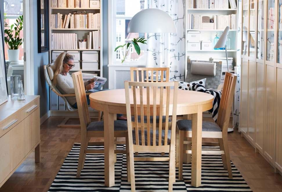 Ikea Round Dining Table And Chairs With Ikea Round Dining Tables Set (Image 7 of 20)