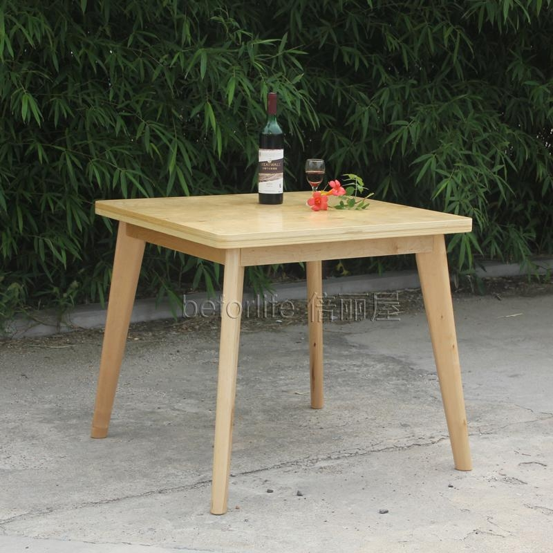 Ikea Style Birch Dinette Table Chair Dining Table And Four Chairs Inside Birch Dining Tables (Image 10 of 20)