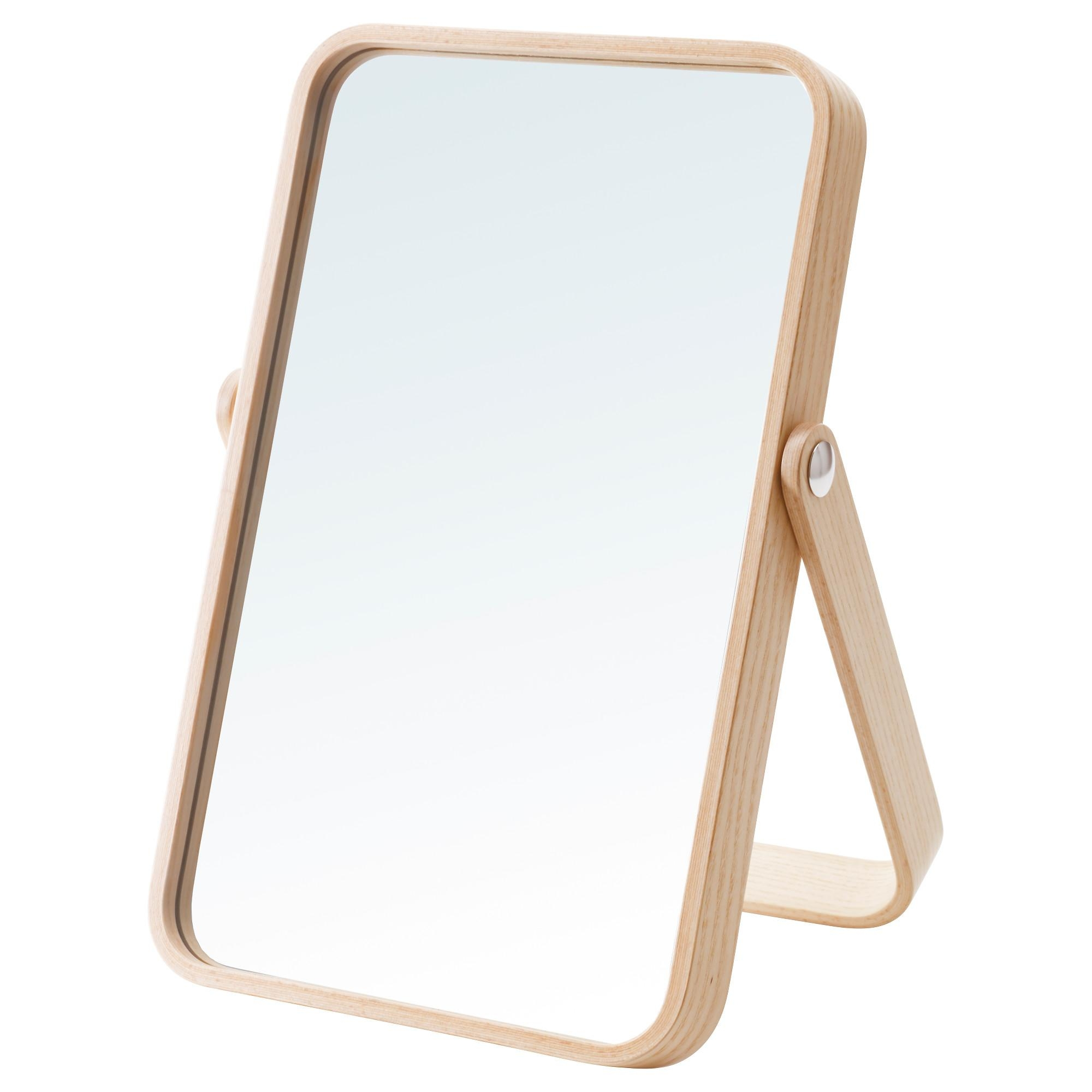 Ikornnes Table Mirror Ash 27X40 Cm – Ikea Intended For Small Free Standing Mirror (Image 9 of 20)