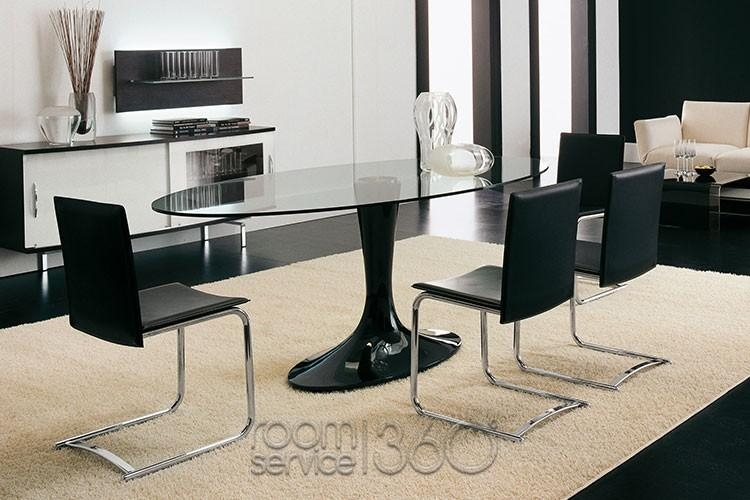 Imperial Oval Glass Dining Tabletonin Casa In Imperial Dining Tables (Image 13 of 20)